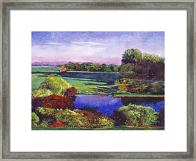 Country View Estate Framed Print by David Lloyd Glover