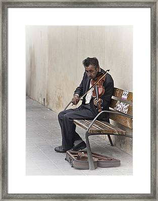 Cry My Violin  Framed Print