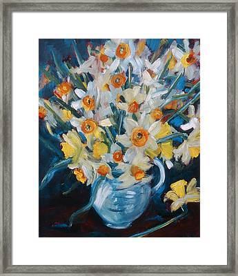 Daffs Framed Print by Gloria Wallington