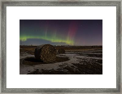 Dakota Aurora Framed Print by Aaron J Groen