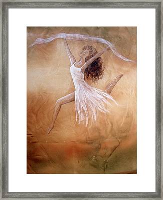 Dancer Leap In Double Attitude Framed Print