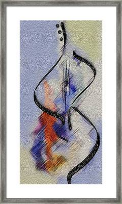 Dancing Guitar Framed Print