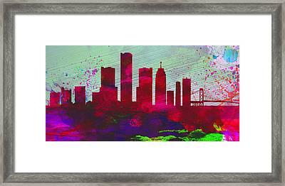 Detroit City Skyline Framed Print