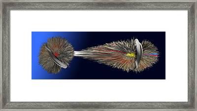 Digital Abstract Work Framed Print by Emil Jianu