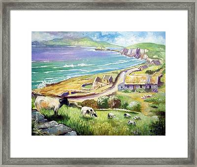 Framed Print featuring the painting  Dingle Co Kerry Ireland by Paul Weerasekera