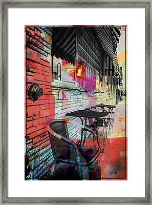 Dining In Sunshine  Framed Print