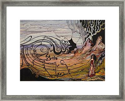 Framed Print featuring the painting  Disappearing Dream by Valentina Plishchina
