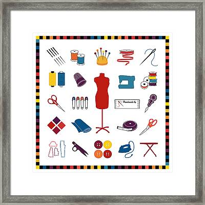 Do It Yourself Sewing Tailoring And Crafts Framed Print by J M Designs