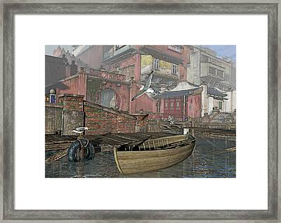 Dock Dispute Framed Print