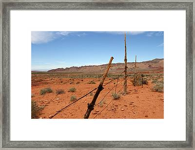 Framed Print featuring the photograph  Don't Fence Me In by Tammy Espino