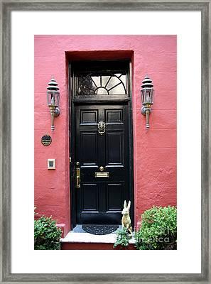 Door Oldtown Charleston Framed Print