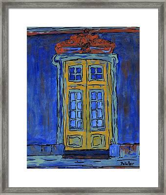 Door On Blue  Framed Print