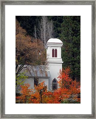 Downieville Church Framed Print