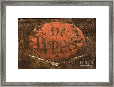 Dr Pepper Vintage Sign Framed Print