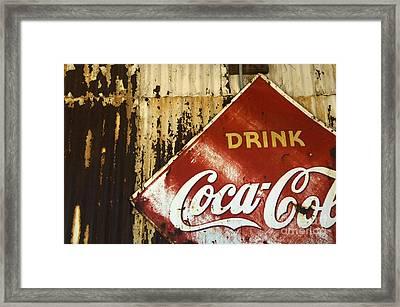 Drink Coca Cola  Memorbelia Framed Print