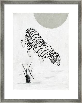Framed Print featuring the painting  Drinking By Moonlight by Stephanie Grant
