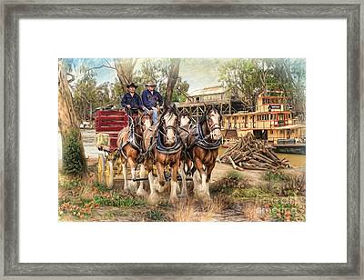 Driving The Murray Framed Print