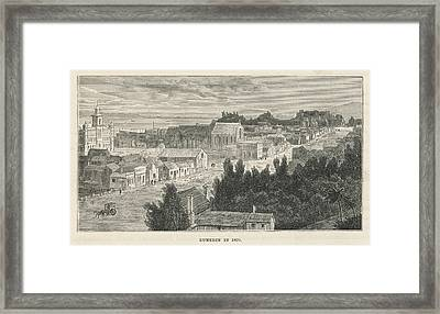 Dunedin  General View        Date 1870 Framed Print by Mary Evans Picture Library