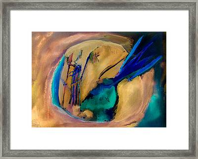 Earth Heart Kachina Framed Print by  Tolere