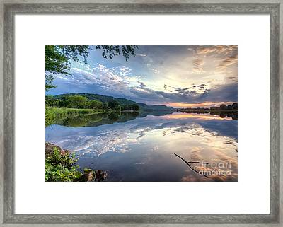 East Lake Sunset Framed Print