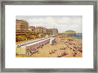 Eastbourne, Sussex A View Framed Print by Mary Evans Picture Library