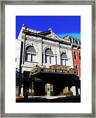 Easton Pa State Theater Center For The Arts Framed Print by Jacqueline M Lewis