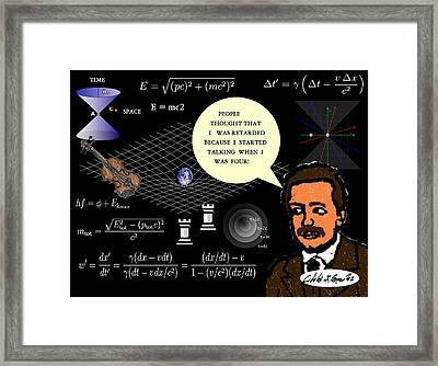 Einstein Misunderstood Genius Framed Print by Cibeles Gonzalez