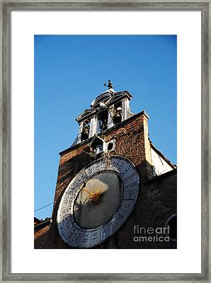 Elaborate Clock Framed Print by Jacqueline M Lewis