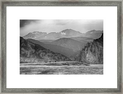 Eldorado Canyon And Continental Divide Above Bw Framed Print by James BO  Insogna