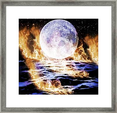 Framed Print featuring the painting  Emotions On Fire by Persephone Artworks