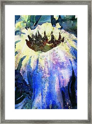 End Of Summer Sunflower Glow Framed Print by Trudi Doyle