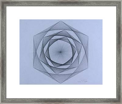 Energy Spiral Framed Print by Jason Padgett