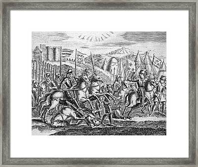 English Soldiers Under Edward  IIi Framed Print by Mary Evans Picture Library