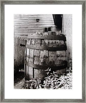 Framed Print featuring the photograph  Ephrata Cloisters Barrel by Jacqueline M Lewis