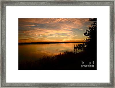 Evening Of November 4 2013  Framed Print