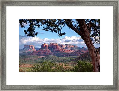 Evening Sky Red Rocks Framed Print