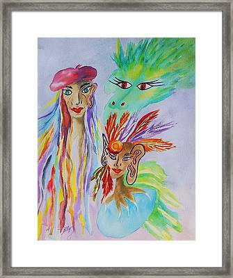 Expressionist Dream  Framed Print by Ellen Levinson