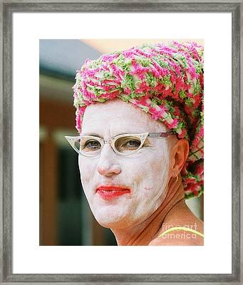 Eye See Colours Of Noxie Noxzema At The Southern Decadence In New Orleans Louisiana Framed Print by Michael Hoard