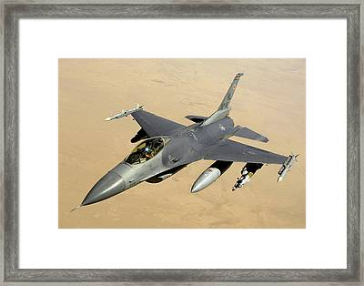 F-16 Fighting Falcon Block 40 Aircraft Framed Print by Celestial Images