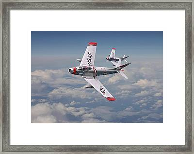 F86 - Fighter School Pair Framed Print by Pat Speirs