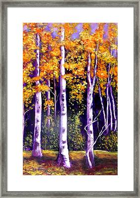 Framed Print featuring the painting  Fall In The Eastern Townships  Quebec by Marie-Line Vasseur
