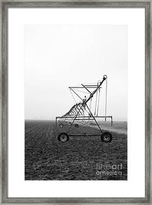 Farmground Springler System Framed Print