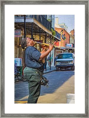 Feel It - Doreen's Jazz New Orleans 2 Framed Print by Steve Harrington