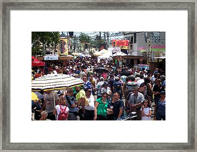 Festival De La China Framed Print by Miguel  Ponce