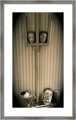 Film Noir Sidney Greenstreet   Mask Of Demetrious 1944 Sid Bruce's Sculptures Black Canyon Az 1991 Framed Print