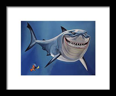 Clownfish Framed Prints