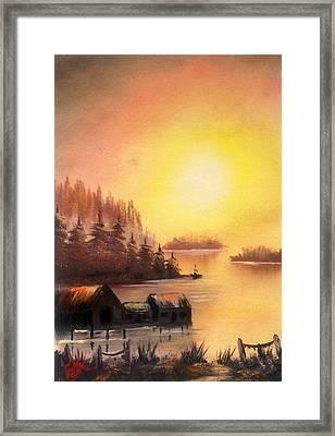 Fisherman's Retreat. Framed Print by Fineartist Ellen