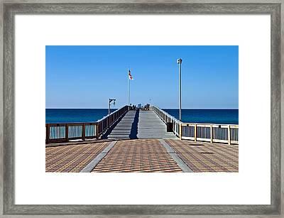 Fishing Pier Framed Print by Susan Leggett