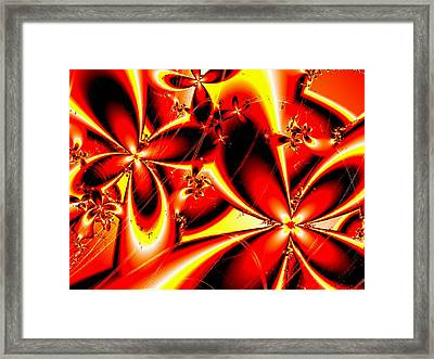 Flaming Red Flowers Framed Print by Anastasiya Malakhova