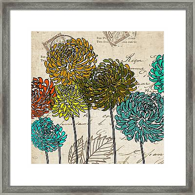 Floral Delight I Framed Print by Lourry Legarde